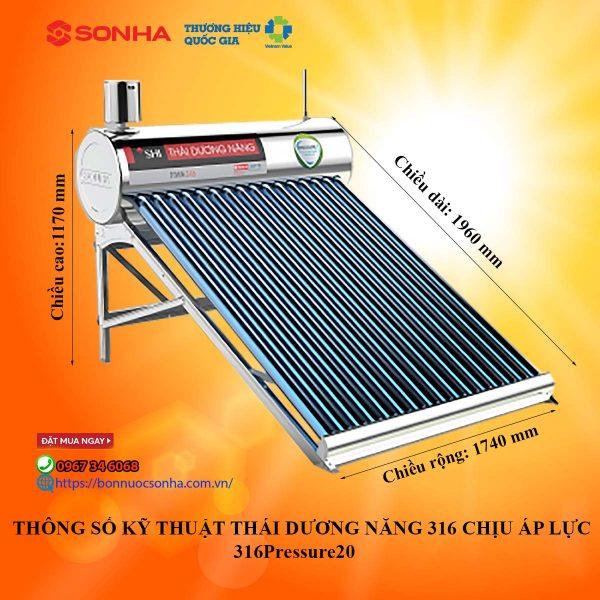 Thong So Ky Thuat Thai Duong Nang Chiu Ap Luc 316 Pressure 20 Min