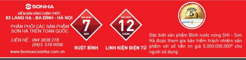 Chế độ bảo hành Bình nước nóng Sơn Hà