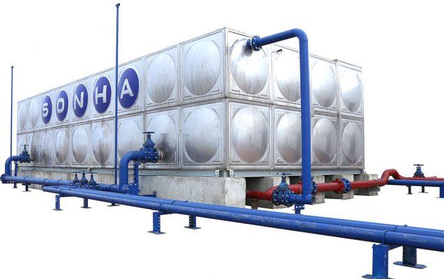 Bồn nước Inox công nghiệp Sơn Hà
