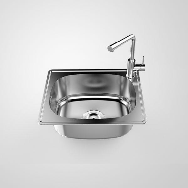 Chậu rửa bát Inox Sơn Hà SH1H0B-447