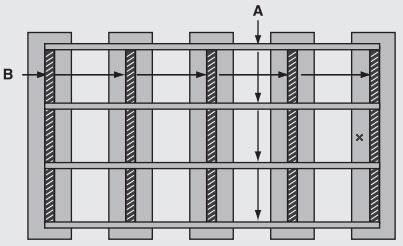 Chân đế bằng khung sắt mạ kẽm/ sơn tĩnh điện