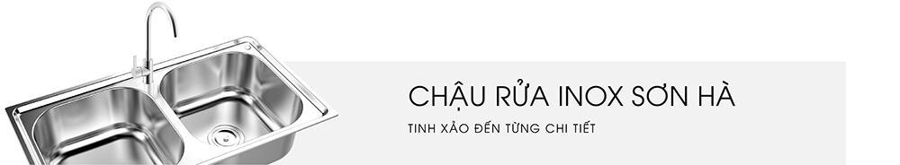 Banner chậu rửa Inox Sơn Hà