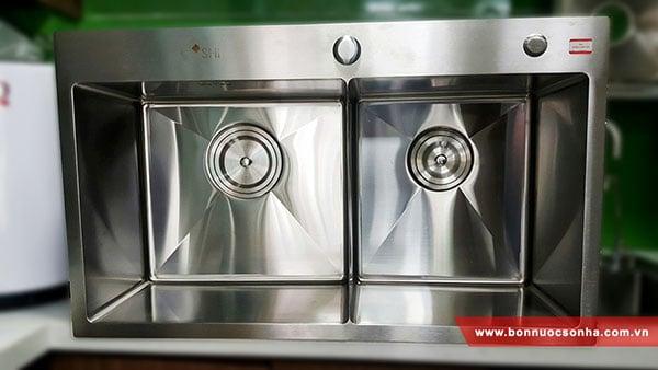 Chậu rửa Inox Sơn Hà SHI2H0B-8046