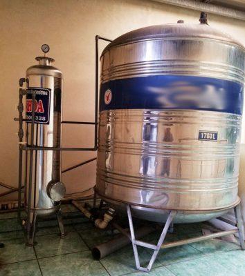 Bộ lọc nước sinh hoạt 1 cột Inox