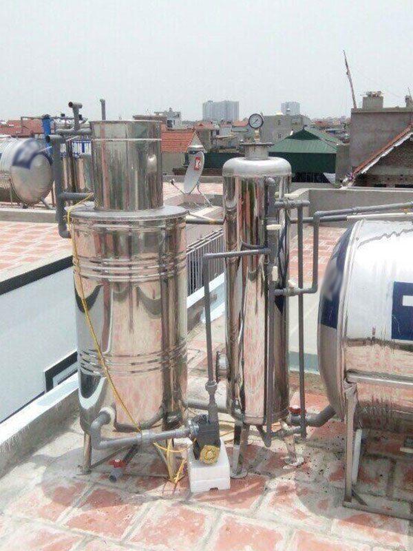 Bộ lọc nước giếng khoan 2 cột áp lực