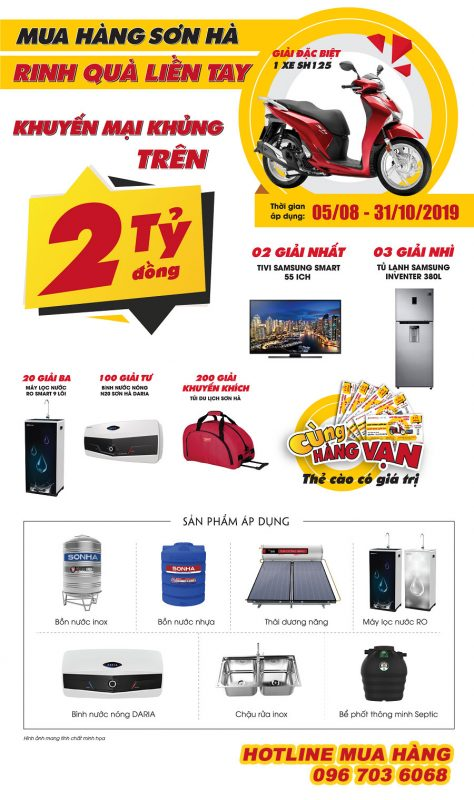 Poster chương trình siêu khuyến mại Sơn Hà 2019