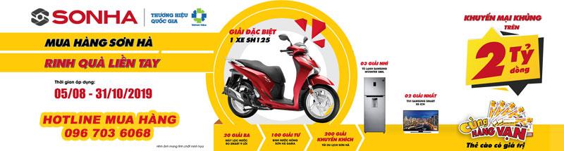 Mua Sơn Hà trúng xe máy