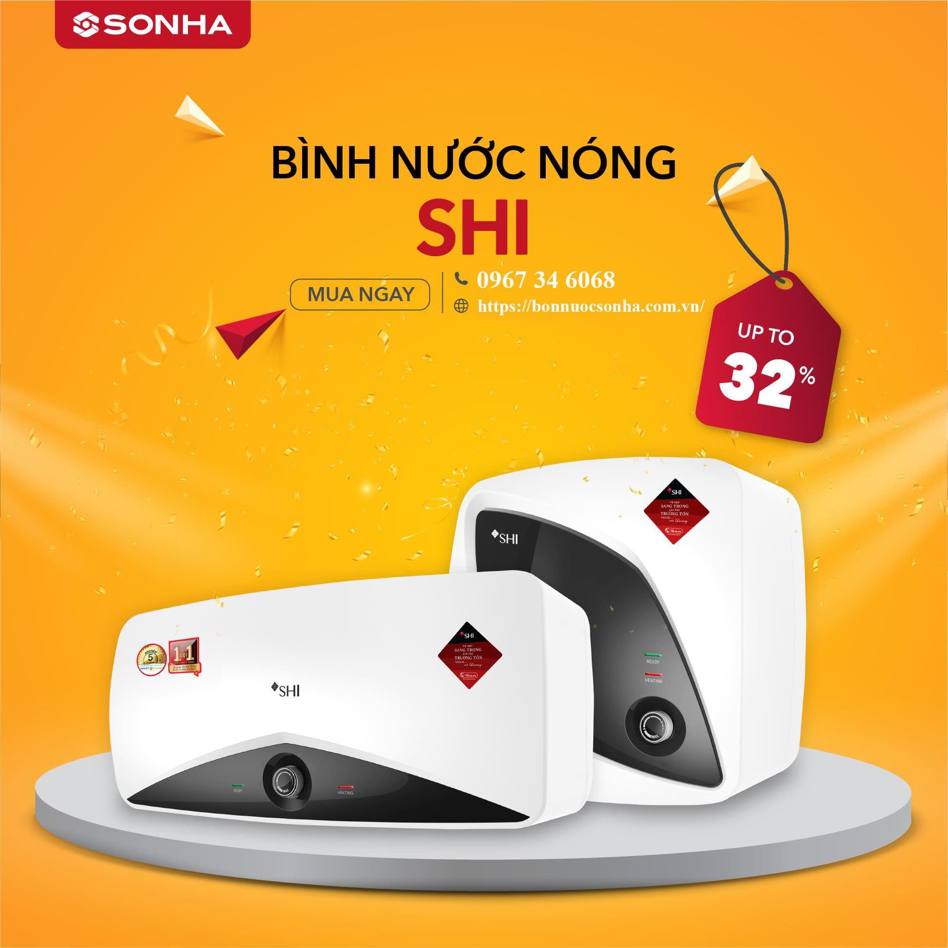 Khuyen Mai Binh Nuoc Nong Son Ha Sale Shi Min