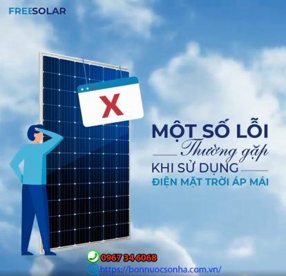 Mot So Loi Thuong Gap Khi Su Dung Dien Mat Troi Min