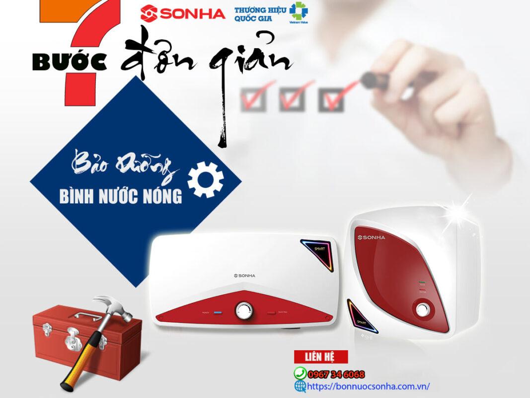 7 Buoc Bao Duong Binh Nuoc Nong Son Ha Tai Nha