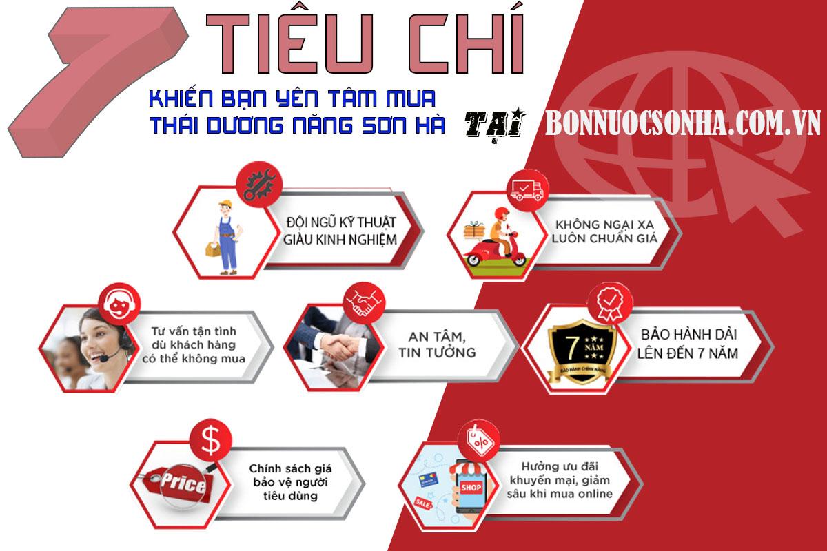 7 tiêu chí khiến bạn yên tâm mua thái dương năng tại bonnuocsonha.com.vn